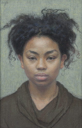 April (pastel, 8 5/8x5 1/2) by Ellen Eagle