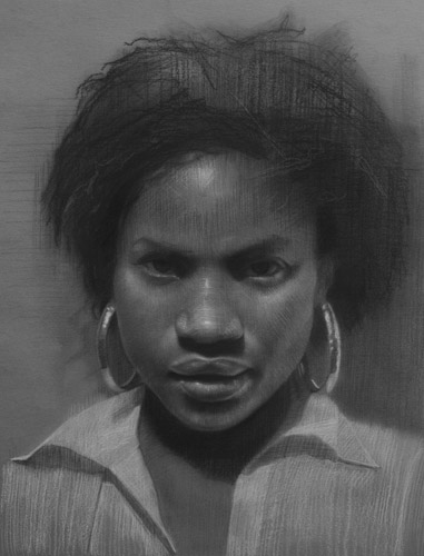Grace (charcoal, 20x16) by David Jon Kassan