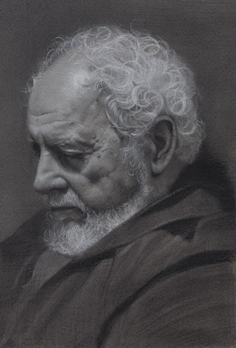 Joe Scala (charcoal, 20x16) by David Jon Kassan