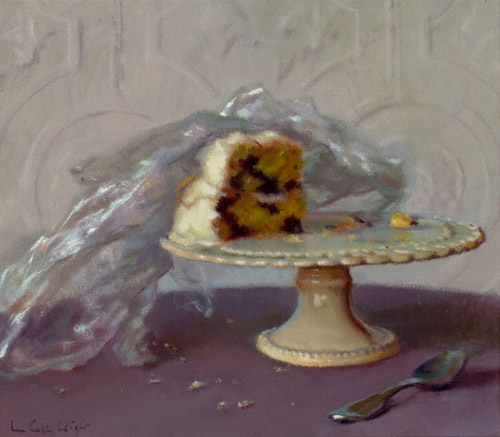 One Piece of Cake (oil, 12x14) by Lea Colie Wight
