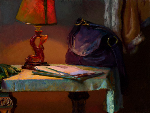Evening, Front Hall (oil, 18x24) by Lea Colie Wight
