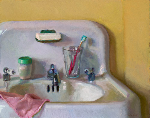 Bathroom Sink (oil, 14x18) by Lea Colie Wight