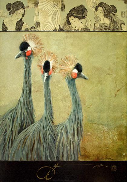 Bird by Bird (acrylic, 34x24) by Sherry Loehr