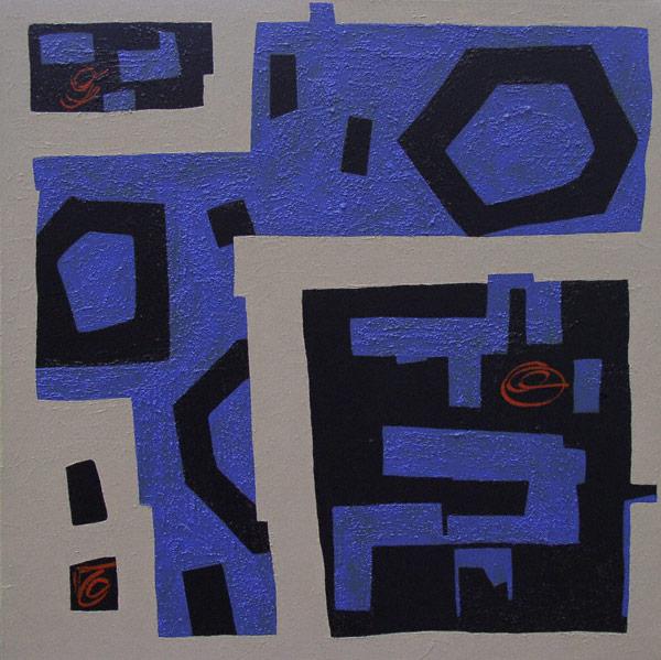 Glyphics No. 2 (acrylic, 24x24) by Mark Bratovich