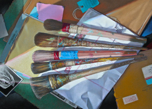 Reused (pastel, 19x25) by Robert K. Carsten