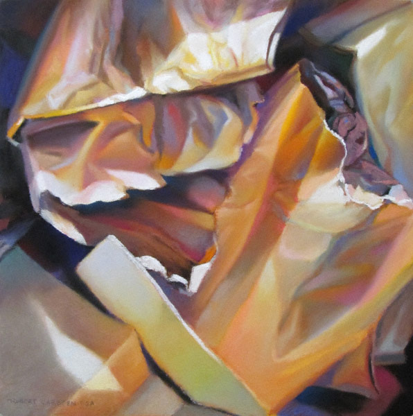 Paper Bags (pastel, 12x11) by Robert K. Carsten