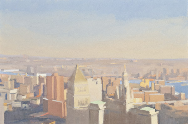 Evening Light, East River (oil, 12x18) by Diana Horowitz