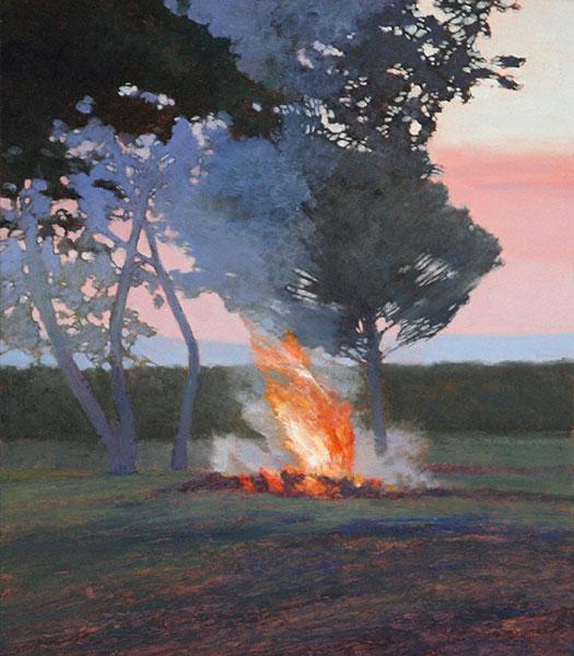 Fumo (oil, 15x13) by Kent Lovelace