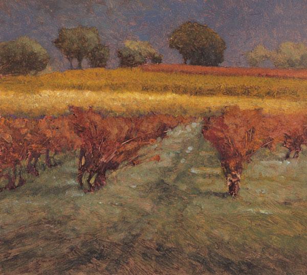 Yellow Field (oil, 12x14) by Kent Lovelace