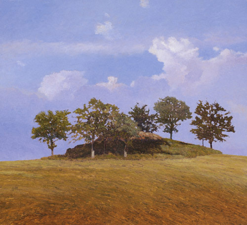 Dolmen (private collection; oil, 32x35) by Kent Lovelace