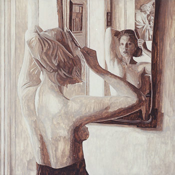 Woman in Mirror by Max Ferguson | oil portrait painting how to