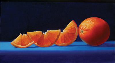 Tangerines (oil, 6x10) by Jane Jones