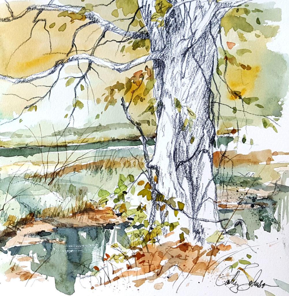 Cathy Johnson art journal sketch
