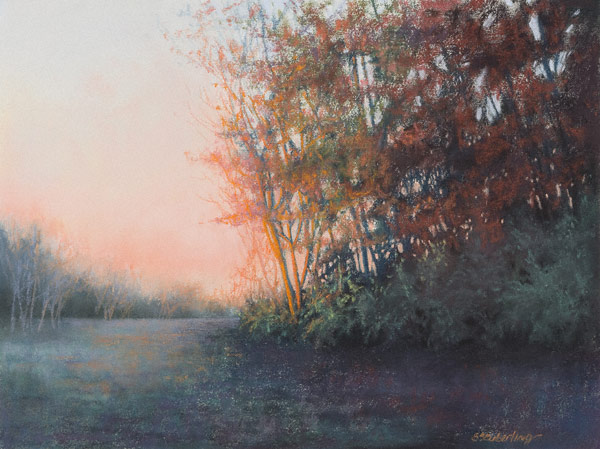 Last Light (pastel, 18x24) by Stacie Seuberling