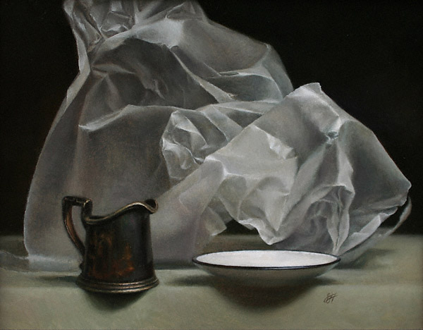 Wax Paper I (oil, 11x14) by Sadie J. Valeri