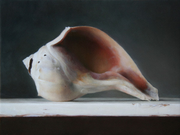 Conch Shell (oil, 9x12) by Sadie J. Valeri