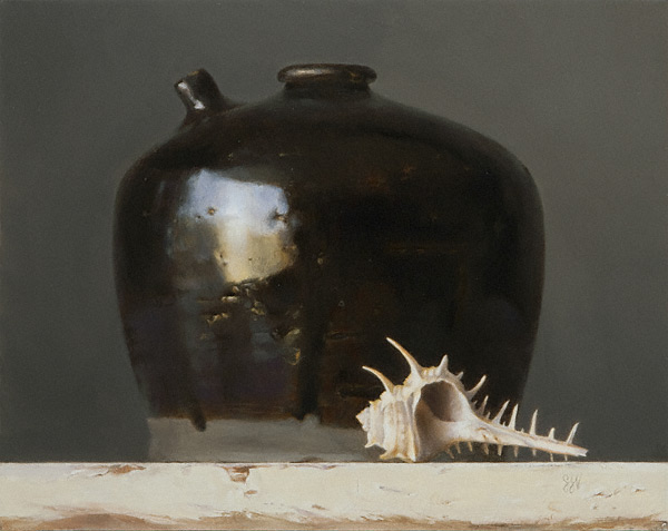 Black Jug (oil, 8x10) by Sadie J. Valeri