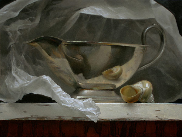 Sterling Boat (oil, 9x12) by Sadie J. Valeri