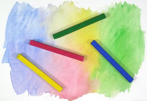 wetting pastel