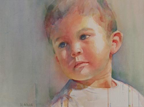 Boy With Blue Eyes by Hannah Adler