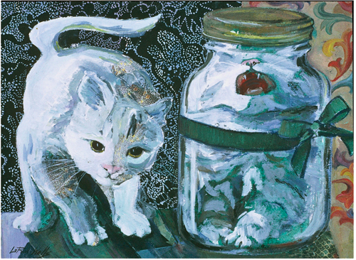 Gift Cat by Mary LaRue Wells