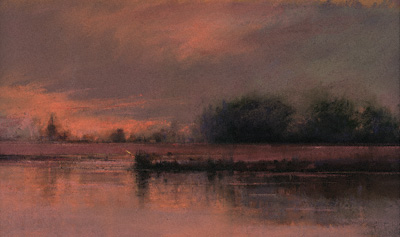 On the Eastern Shore (pastel, 12x18) by Lawrence C. Barone