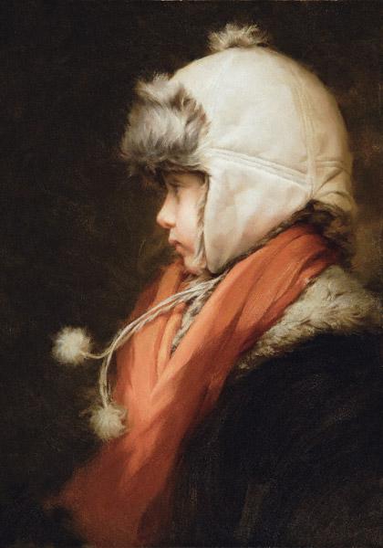 Amelie (oil, 19x12) by Thomas Reis
