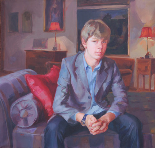 Guido (oil, 71x76) by Ilaria Rosselli Del Turco