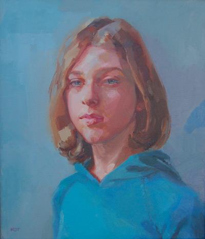 Anna (oil, 34x29) by Ilaria Rosselli Del Turco