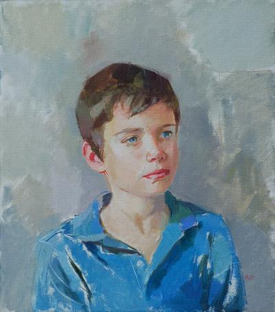Pietro (oil, 51x46) by Ilaria Rosselli Del Turco