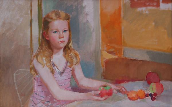 Giacinta (oil, 58x84) by Ilaria Rosselli Del Turco