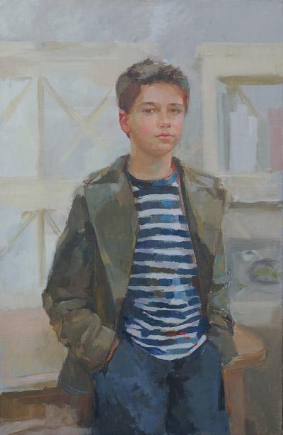 Alberto (oil, 86x56) by Ilaria Rosselli Del Turco