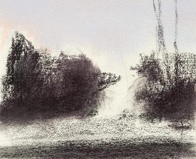 landscape sketch for pastel painting