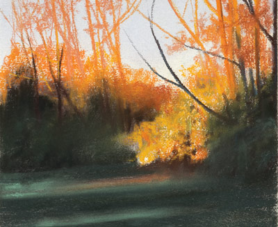 Autumn Surprise (pastel, 11x12) by Stacie Seuberling