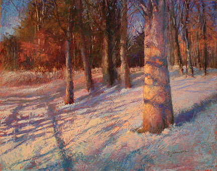 Glowing-Winter-Morning by Barbara Jaenicke