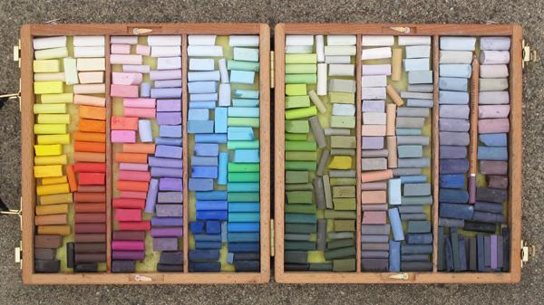 plein air pastel palette