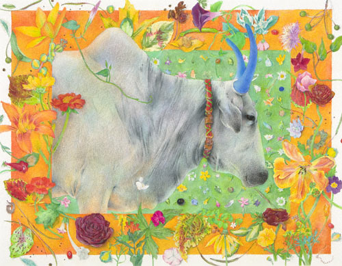 Festival of the Animals (watercolor and colored pencil, 211/4x271/4) by Karen Anne Klein