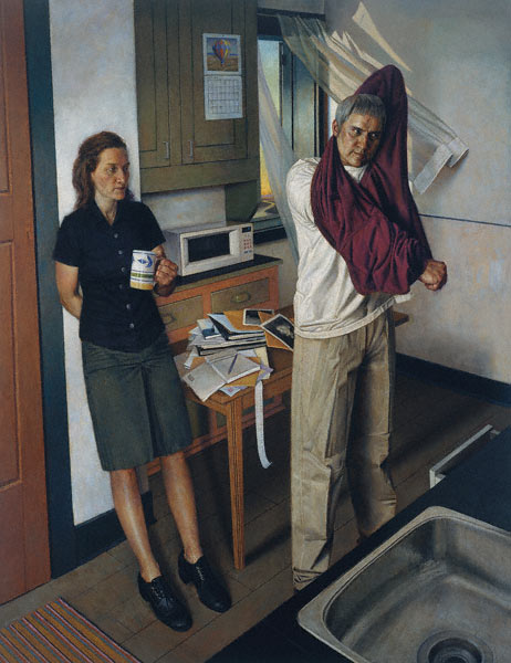 Kitchen (Ways of Escape) (oil, 78x60) by Paul Fenniak
