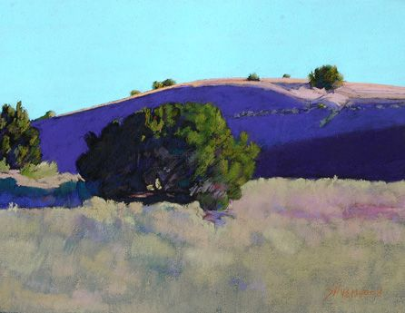 Purple Hill s by MAry Silverwood