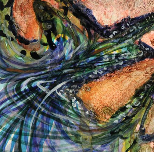 Into the Rocks | watercolor