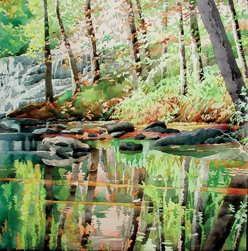 Falling Water | watercolor
