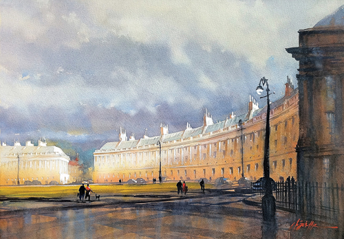 Royal Crescent–Bath | watercolor