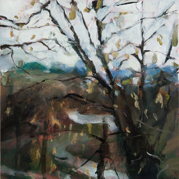 View From Eden Park oil painting by Kim Flora | oil landscape abstract painting