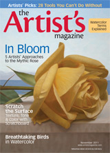 The Artist's Magazine, November 2011 cover, art by Colin Berry