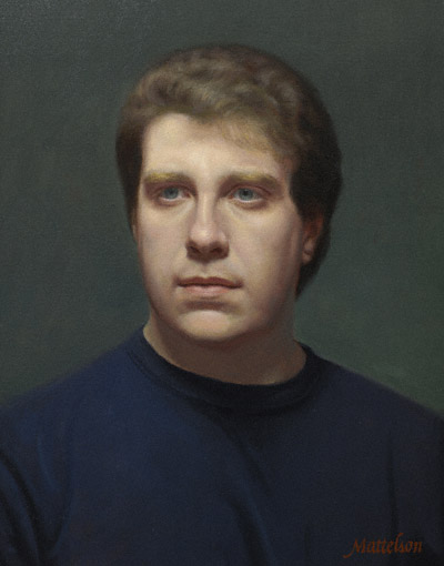Dan (oil 20x16) by Marvin Mattelson