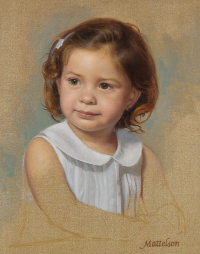 Samantha (oil, 18x14) by Marvin Mattelson