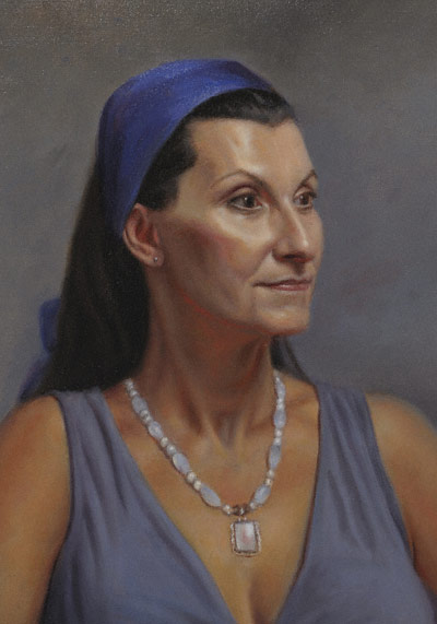 Catherine demo (oil, 18x14) by Marvin Mattelson