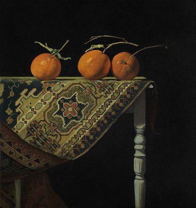 Three Oranges (pastel, 22x23) by Ron Monsma