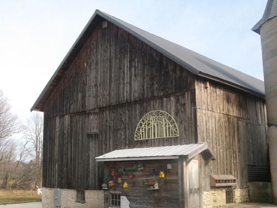 Woodwalk gallery, restored barn, art gallery, Door County Wisconsin