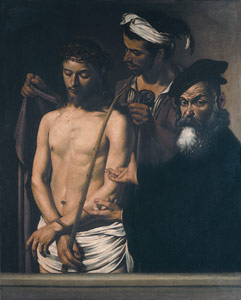 Ecco Homo (Behold the Man) painting by Caravaggio, oil figure painting, art exhibition, Columbus Museum of Art